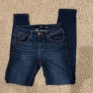 1822 Denim Adrianna dark skinny jeans